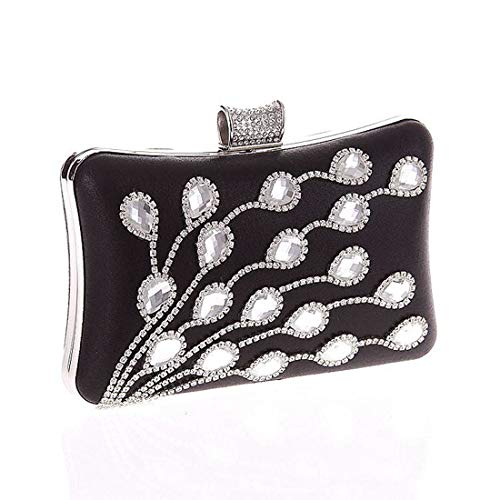Fashion Diamond Black American Bag Dinner European Bag Party Glass Bag Evening Craft Diamond Studded Fly Fashion Clutch gYnpwaqdBg