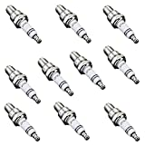 QAZAKY 10pcs Spark Plug Z4C for 49cc 50cc 66cc 70cc 80cc 2-Stroke Engine Motorized Bicycle Moped Scooter Yamaha JOG50 90 ZX50 Honda DIO50 Suzuki AG100 QJ50 DX100 AX100 CJ750