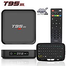 BPSMedia® T95M 4K Amlogic S905 Set Top TV Box Android 5.1 Lollipop OS XBMC Quad Core Google Streaming Media Player 1GB/8GB with WiFi HDMI DLNA + H18 Vibration Sense Wireless Keyboard …