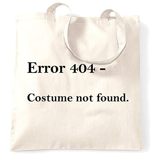Error 404 - Costume Not Found Geeky Halloween Costume Shopping Tote Bag by Valentine -