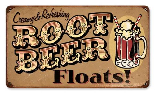 Rootbeer Floats Metal Sign