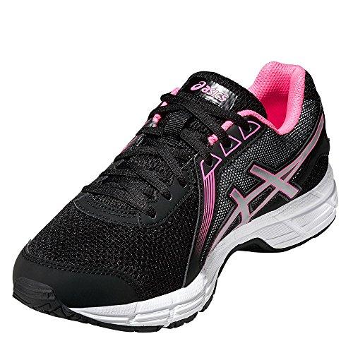 Femme Schwarz impression De Gel rosa silber Chaussures 8 Asics Gymnastique 0fOqYx