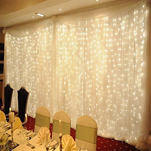 Yuliang Led Curtain Lights 300led 3m3m 9 8ft9 8ft