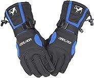 Awakingdemi Men Winter Gloves Waterproof Snowboard Snowmobile Skiing Motorcycle Gloves 30CM