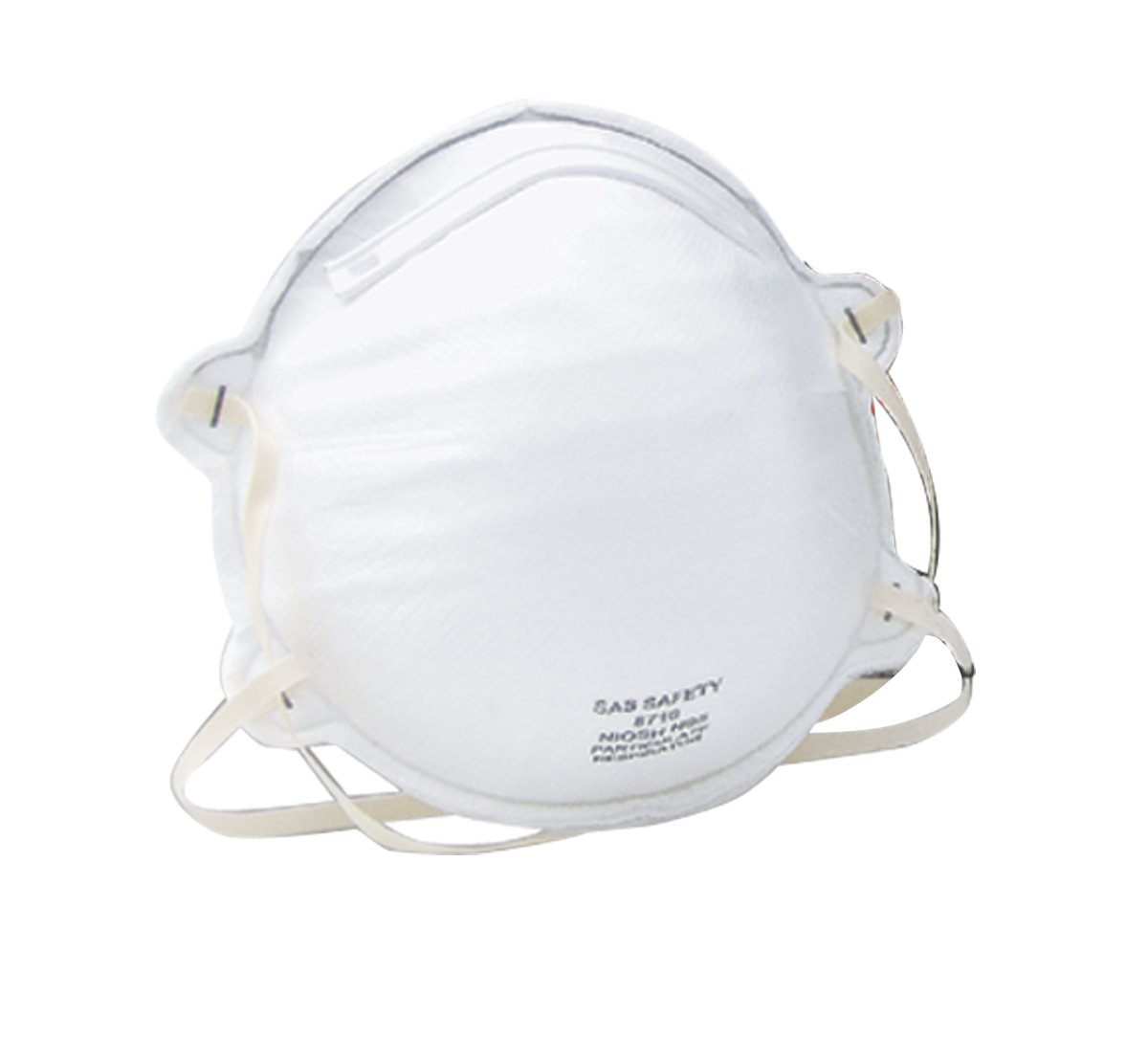 SAS Safety 8710 N95 Particulate Respirator with Cushion Seal, 20-Pack