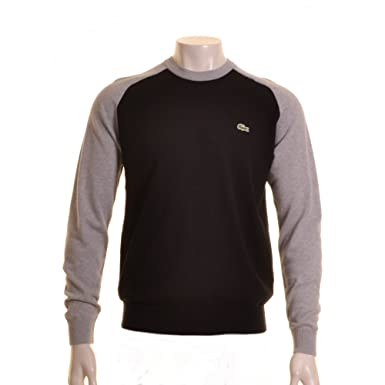 717cef971959 Lacoste Live Black Cotton Crew Neck Jumper. Black 6  Amazon.co.uk  Clothing
