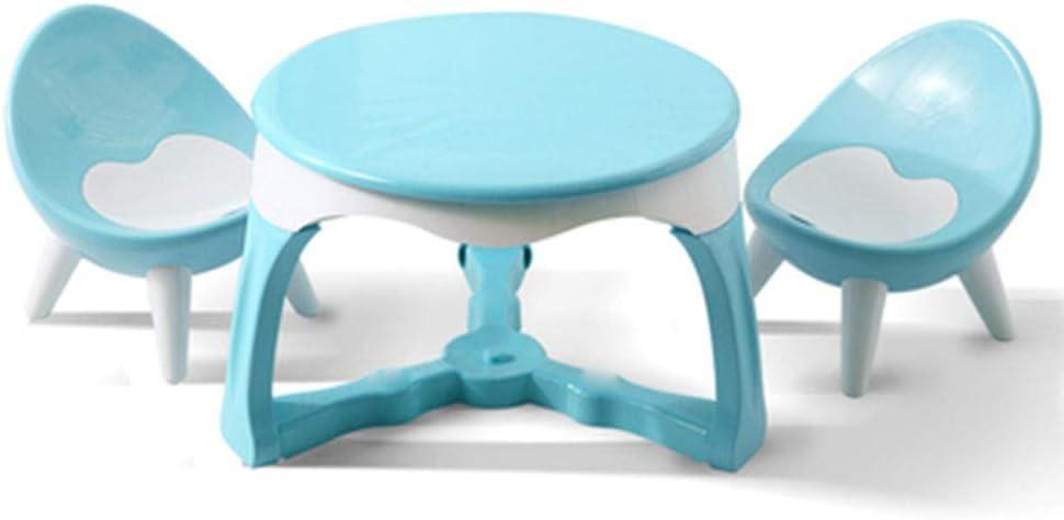 子ども用テーブル椅子セット キッズ家具セット - 創造感激活動表デスクベッドルームプレイルーム幼稚園のために設定します。 子供用テーブルチェアセット (色 : 青, サイズ : 53.5x36.5/36x27cm)