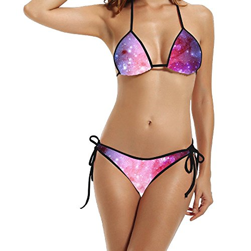 Price comparison product image Hotgirl4 Women Galaxy Colorful Bikini Black Size One Size