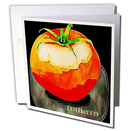 Vintage red tomato fruit art greeting card 6 x 6 inches vintage red tomato fruit art greeting card 6 x 6 inches m4hsunfo