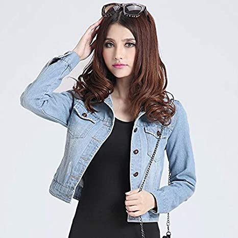 NZJK Chaquetas para Mujer Abrigos Spring Fashion Jeans Chaquetas ...