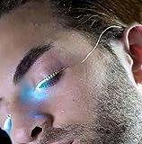 Image of Lady Up LED Eyelashes Waterproof LED Light Luminous Shining Charming Eyelid Tape for Party Bar NightClub Concerts Birthday Gift Halloween (blue)