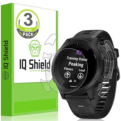 [3-Pack] IQ Shield LiQuidSkin Clear Full Body Skin + Full Coverage Screen Protector for Garmin Forerunner 945 HD Anti-Bubble TPU Film