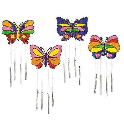 IN-48/1891 Butterfly Suncatcher Wind Chimes Per Dozen supplier:saleaxis