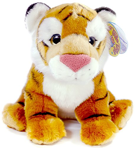 Cat Plush Big (Theodore the Baby Malayan Tiger | 13 Inch Large Tiger Stuffed Animal Plush Cat | By Tiger Tale Toys)