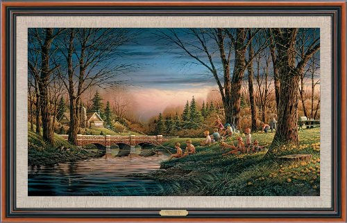 Spring Fishing Framed Master Canvas by Terry Redlin