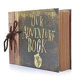 Photo Album Scrapbook, DIY Handmade Album Scrapbook Movie Up Travel Scrapbook for Anniversary, Wedding, Travelling, Baby Shower, etc (Travel Scrapbook)