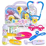 Livoty Play Doctor Pretend Medical Set Kit Case Educational Role Playset Gift For Kids (A)