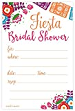 Fiesta Bridal Shower Invitations - Fill In Style (20 Count) With Envelopes