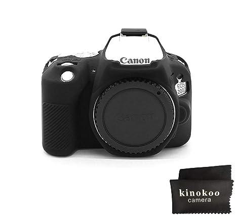 Kinokoo - Carcasa de Silicona para Canon EOS 200D/Rebel SL2
