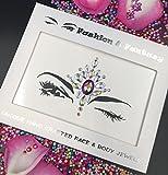 temporary body gems - HK Topaz Dance performace Face Jewels Gem Bindi Body Jewelry Stickers Rhinestone Tattoo Temporary Face Gems Sticker