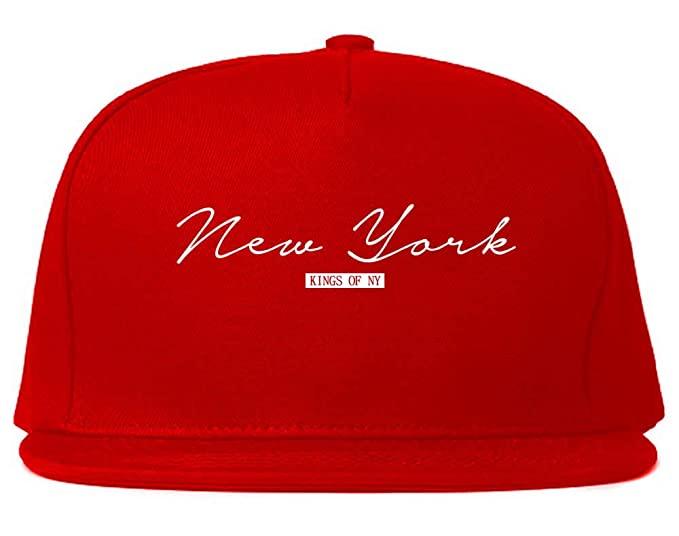 69ac7c4b3 Kings Of NY New York Script NYC brooklyn Typography Snapback Black at  Amazon Men's Clothing store: