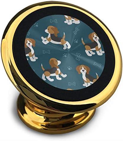 かわいい漫画犬子犬ビーグル犬 携帯電話ホルダー おしゃれ 車載ホルダー 人気 磁気ホルダー 大きな吸引力 サポートフレーム 落下防止 360度回転