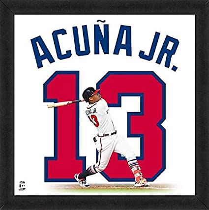 competitive price 041de 1591d Ronald Acuna Jr Atlanta Braves Uniframe at Amazon's Sports ...