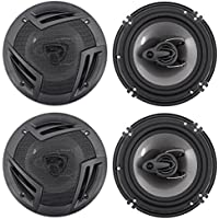 Pair of Rockville 6.5 Front+Rear Factory Speaker Replacement For Nissan Maxima