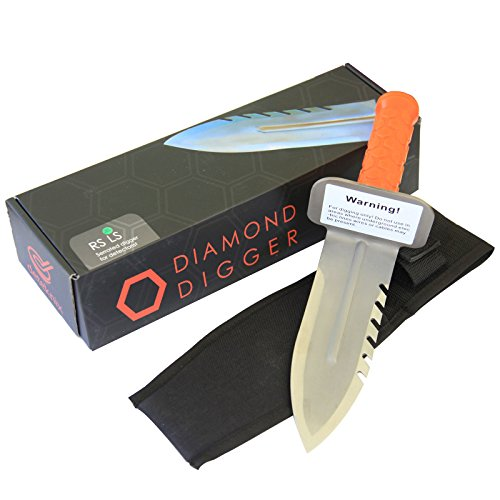 Deteknix Digging Tool & Sod Cutter Left Side Serrated Blade with Free Sheath by Deteknix