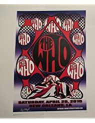 2015 The Who New Orleans Concert Poster Autographed