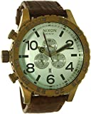 Nixon Men's 51-30 A1242223 Brown Leather Quartz Watch