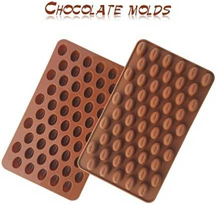 AS mini Coffee beans chocolate mold,Candy mold,baking mold,Silicone mold,Cake Decorating, 3pcs.