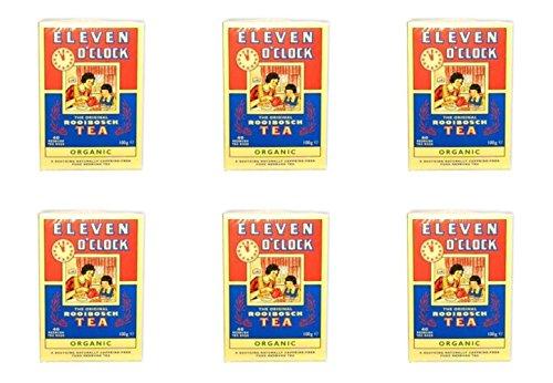 (6 PACK) - Eleven Oclock Rooibosch Tea| 40 Bags |6 PACK - SUPER SAVER - SAVE MONEY (6 Bag Super Pack)