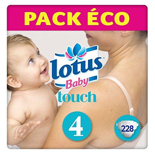 Lotus BabyTouch - Couche Taille 4 (7-14 kg) Pack économique (228 couches) 7322540852639