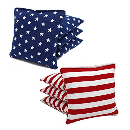 (Free Donkey Sports ACA Regulation Cornhole Bags(25+ Colors to Choose from) (Stars/Stripes))