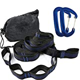 April With You Super Strong Hammock Band Hanging Hammock Belt Hamaca Hamak for Camping, Travel, Portable Hanging Tree Rope,Blue