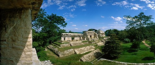 - Posterazzi Mayan Temple Ruins The Northern Group Palenque Mexico Poster Print (36 x 12)