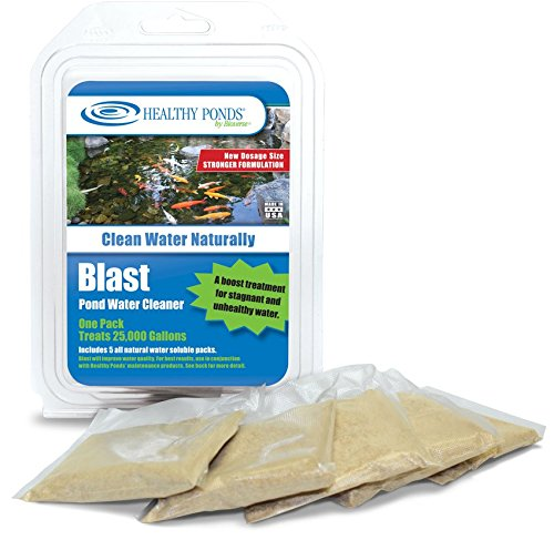 Healthy Ponds 50010 Blast Pond Water Cleaner, 5 Water Soluble Packets; Each Packet Treats up to 25,000 Gallons by Healthy Ponds