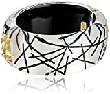 Alexis Bittar Studded Hinge Rutilated Silver Bangle Bracelet