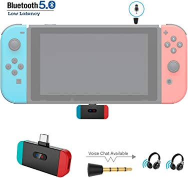 Transmisor inalámbrico Bluetooth para Nintendo Switch, adaptador de audio USB C para auriculares Bose Sony Airpods TWS, chat de voz en el juego, baja latencia AptX, dos dispositivos emparejados: Amazon.es: Electrónica
