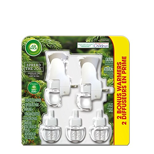 Air Wick Holiday Scented Oil Kit (2 Warmers + 5 Refills), Woodland Pine, Air - Woodlands The Shopping