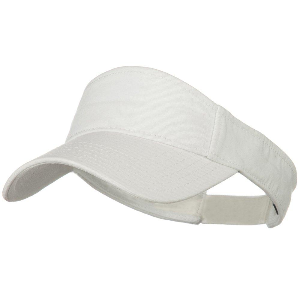 White OSFM Superior Garment Washed Cotton Twill Sun Visor