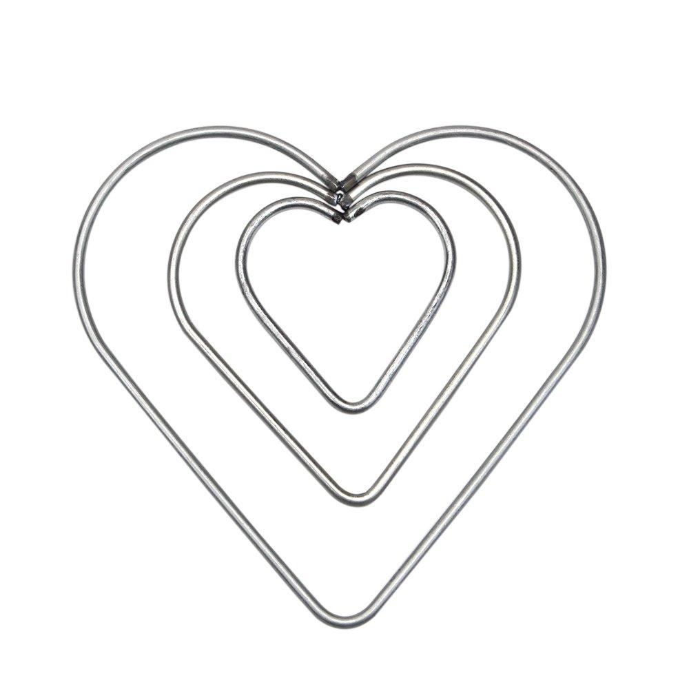 4 Sizes 8 Pcs Craft Metal Star//Heart Shaped Rings Metal Hoops for Dream Catcher 5cm//8cm//10cm//12cm