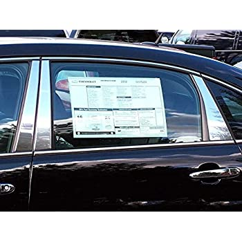 Made In USA Works With 2006-13 Chevrolet Impala 4PC Stainless Steel Chrome Pillar Post Trim