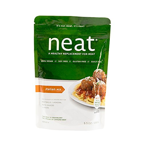 - neat - Plant-Based - Italian Mix (5.5 oz.) - Non-GMO, Gluten-Free, Soy Free, Meat Substitute Mix
