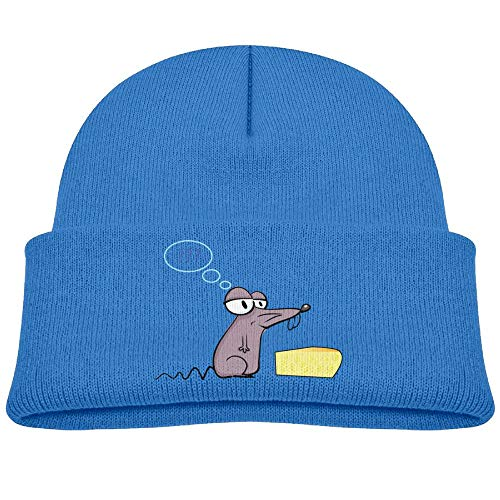 Kocvbng I Beanie Caps Rat and Cheese Soft Knit Hat Baby Girls RoyalBlue