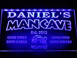 x0012-tm Daniel's Man Cave Bar Custom Personalized Name & Date Neon Sign