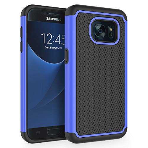 Galaxy S7 Case, SYONER [Shockproof] Defender Protective Phone Case Cover for Samsung Galaxy S7 (5.1, 2016) [Blue]