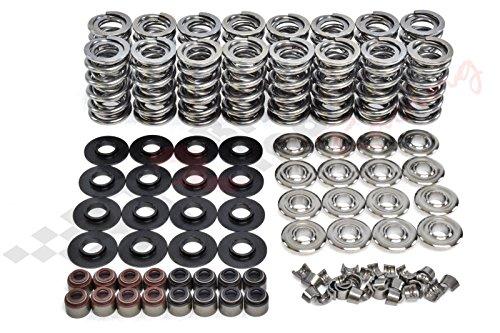 """Brian Tooley Racing BTR Dual Spring Kit .660"""" LS1 LS2 LS3 LQ4 Titanium Retainers Fits LS1 LS2 LS3 LS4 LS6 L76 L92 L99 LQ4 LQ9 L33 LSA"""
