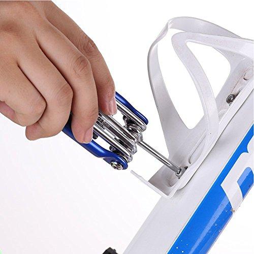 Hltd Multi Function Bike Bicycle Repair Tool Kit Folding Cycling Maintenance 11 in 1 Multi Tool Socket Wrench Hex Keys Screwdriver Set … by Hltd (Image #4)